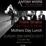 Antony Myers Frank Sinatra Tribute Show Mothers day