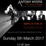 Antony Myers Frank Sinatra, Michael Buble and Rat Pack Sunday Lunch Show Finchingfield Essex/Suffolk